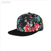 promotion personnalisé imprimé partout dans le chapeau plat court bord pas cher 5 chapeaux de panneau