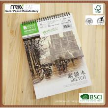 A4 Top Spiral Sketch Book Papel de pintura profissional 160g Desenho de papel Esboço em branco Escritório Material escolar Materiais de pintura de pintura