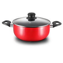 Red Aluminum Press Non-stick Sauce Pot