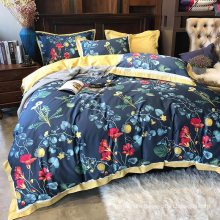 Home Textile Fashion Style Bed Linen Cotton Printed Soft for Single 3PCS Bed Sheet