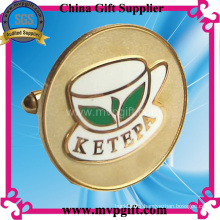 Metal Gold Cufflink for Promotion Gift (m-ck04)
