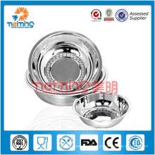 tigela de microondas de aço inoxidável de polimento