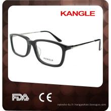 2017 Acétate devant avec des lunettes optiques en acétate unisexe en métal