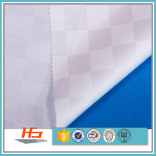 Wholele White Check 100% Polyester Tissu