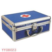 portable aluminum medical box blue