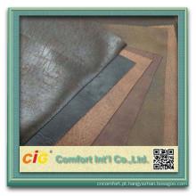Sofá secional sueded macio da camurça do couro do tecido de algodão de 100%