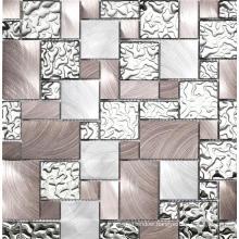 Silver Metal Mosaic Tile Stainless Steel Decor Kitchen Mosaic