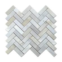 Herringbone Design Marble Mosaic Irregular Blue Mosaic Home Decor