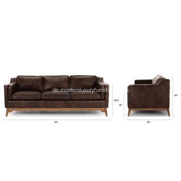 Worthington Oxford Brown Ledersofa
