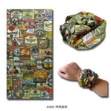 Multifunctional Microfiber Polyester Seamless Knitted Magic Bicycle Bandana Headband (YKY1006-5)
