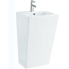 Lavabo de pedestal de mano de lavado de baño de cerámica de artículos sanitarios