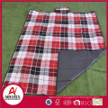 Briefcase style colorful acrylic high quality waterproof picnic blanket