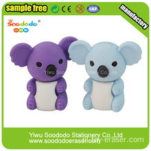 Free Sample Animal Koala Eraser, promotie dier gum