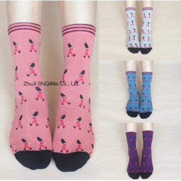 Оптовая продажа настроить вязанные носки жаккардовые Дамы платье