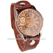 Nouveau Crystal Lady Women Girl Brown Quartz couple lover Wrist Watch WL-011