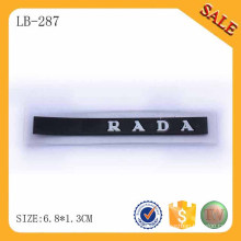 LB287 2015 Accessoires pvc bon marché personnalisé marque logo patch en caoutchouc pour veste