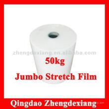 Filme estirável de rolo jumbo usado para rebobinar - 50kg