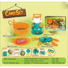 Boutique Playhouse plástico brinquedo-Camping Set com utilitário faca e fogão a gás