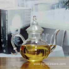 New Heat Resistant Blooming Tea Glass Teapot With Infuser