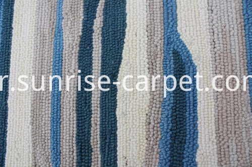 Dyable Polyester Hand Hooked Carpet Rug
