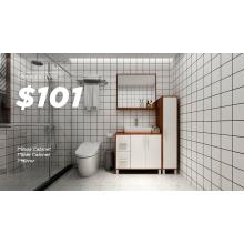 Modern Simple Design Wooden Bathroom Cabinet