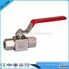Robinet à bille en acier inoxydable haute pression dn20