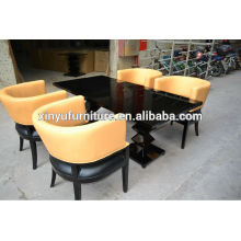 1 table with 4pcs chair restaurant table sets for used(XY0187)