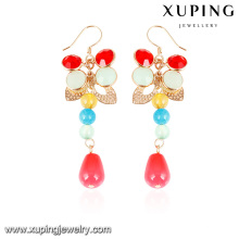 92600- Xuping New colorized latest models gold hanging earrings