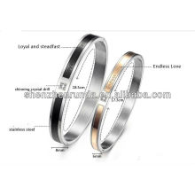 fashion jewelry Free engraved Couple Bangles Endless Love china supplier