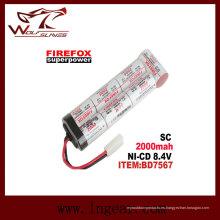 Firefox Sc2000mAh 8.4V batería de Ni-MH Airsoft Aeg RC Mini