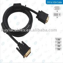DVI 24 + 5 Male to VGA Male Monitor Cable 1.5m Gold