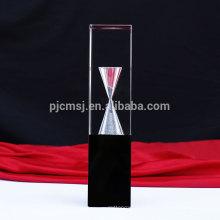 Горячая распродажа новый пользовательский дизайн кристалл трофей награды с песочными часами
