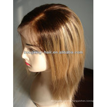 wholesale 12 inch ombre two tone human hair full lace wig
