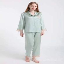 2021 designer real luxury customized custom zustomize summer couple 100% mulberry silk pajama pajamas for women