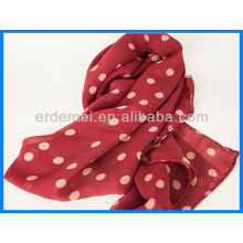 Fashionable voile polka dot scarf factory