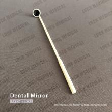 Espejo bucal de plástico desechable Espejo dental