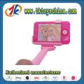 Telefone celular plástico de moda com brinquedo Selfie Stick para crianças