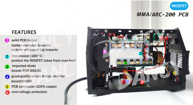 ARC 200 mosfet welding machine inside