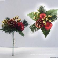 Plástico decorativo de peluche Adornos de árboles de Navidad Picas de Navidad