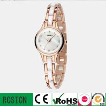 Moda Quartz Lady Watch com pulseira de couro