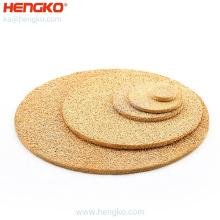 Hengko sintered powder porous metal stainless steel Bronze filter plate