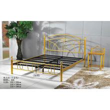 Cama de metal de pintura dorada (606 #)