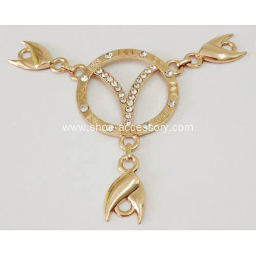 Rhinestone Sandal Chain for Lady Shoes Decoration