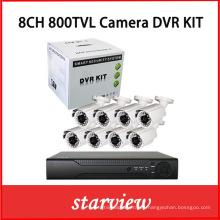 8CH DVR CCTV Sistema Kit de cámara al aire libre con 8PCS