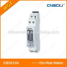 DRM18S Single phase number display din-rail watt-hour meters