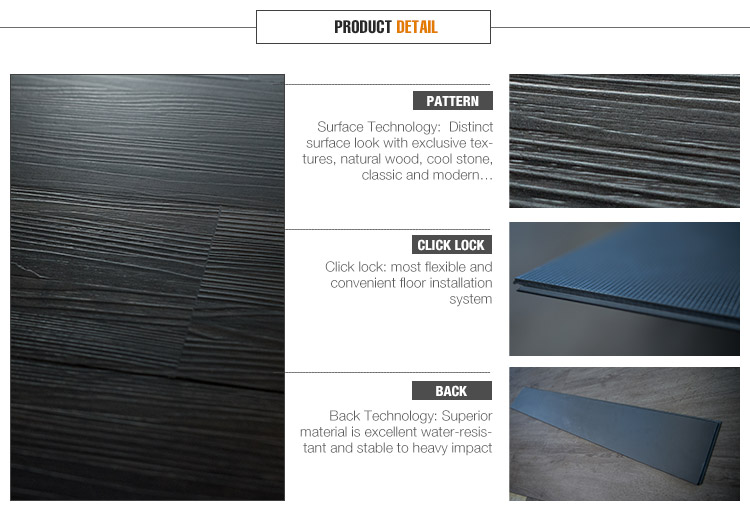 High performance self-stick building materials pvc floor
