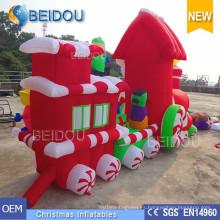 Decoración de Navidad Trineo Adornos Tren de Navidad inflable
