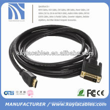HOT SALE DVI TO HDMI CABLE WITH GOLD PLATED