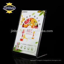 JINBAO Acrylic material File Holder plexiglass table stand menu holder