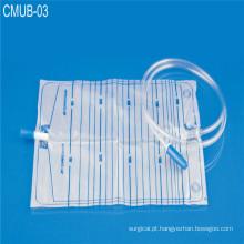 Saco de drenagem médica de urina médica com válvula de parafuso